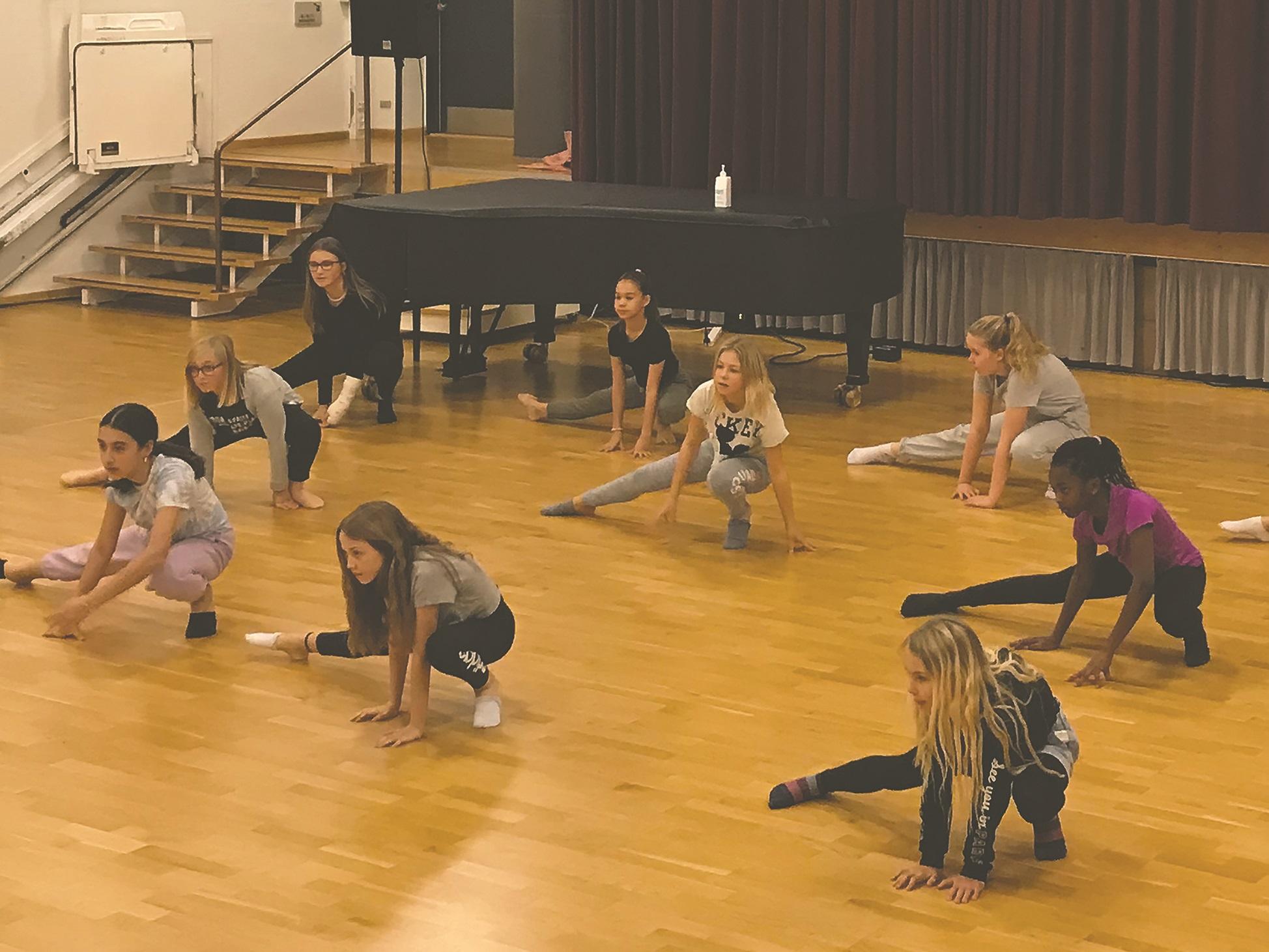 Billede fra danseworkshop